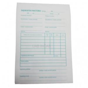 Saskaita faktura A7-A6 1+1