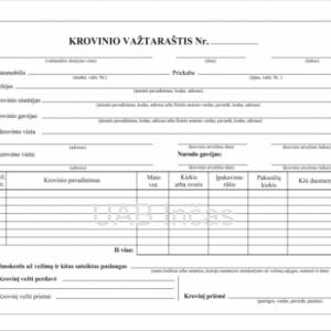 Krovinio vaztar_waybill A5