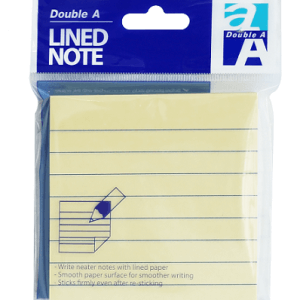 Note lined yellow