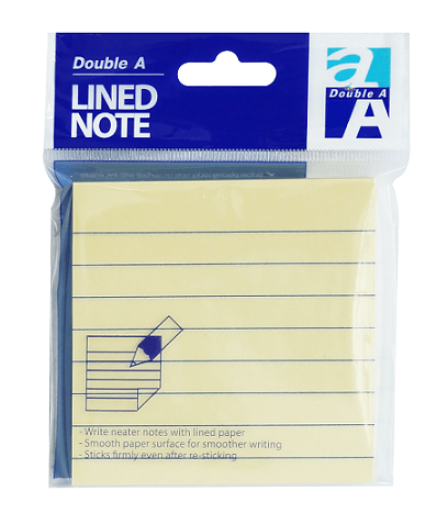 Note lined yellow 76×76