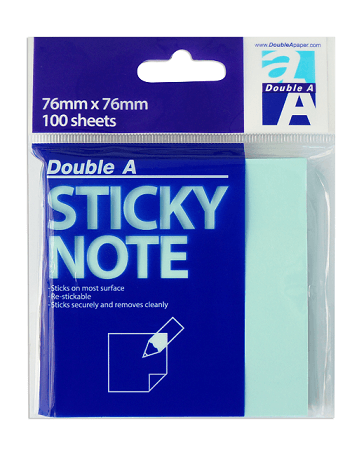 Sticky note blue 76×76